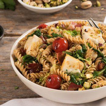 Halibut, Pistachio & Cherry Tomato Fusilli