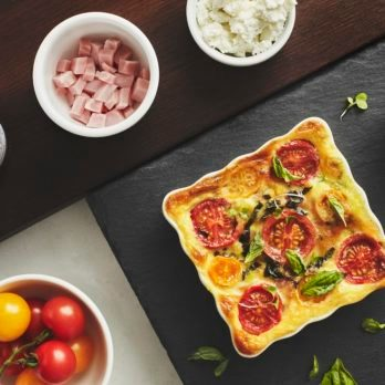Ham and Goat Cheese Clafoutis