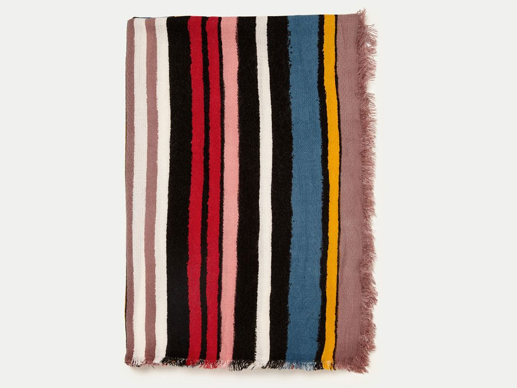 Multicoloured Soft Striped Scarf