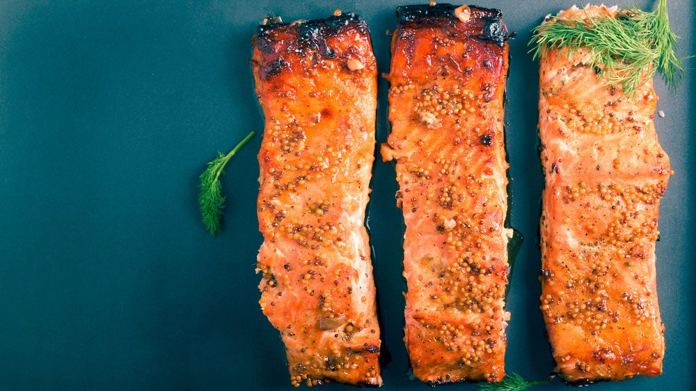 Maple-Glazed Salmon with Braised Cabbage & Apples