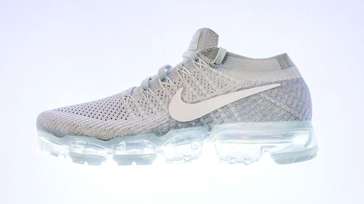 Side of Nike VaporMax shoe