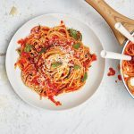 Spaghetti and Zucchini Pomodoro