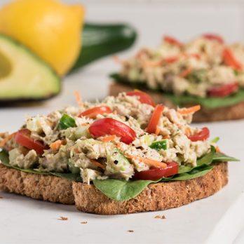 Quick & Clean Open-Faced Avocado Tuna Sandwich