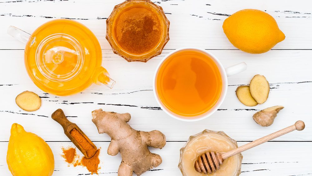 turmeric detox tea and spices