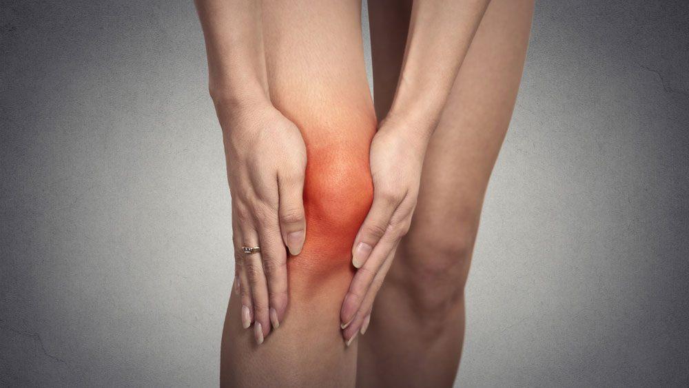 a red, swollen knee
