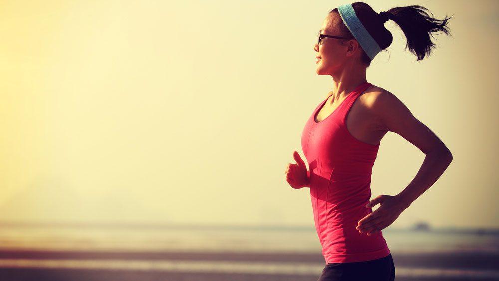 Woman enjoying a great run