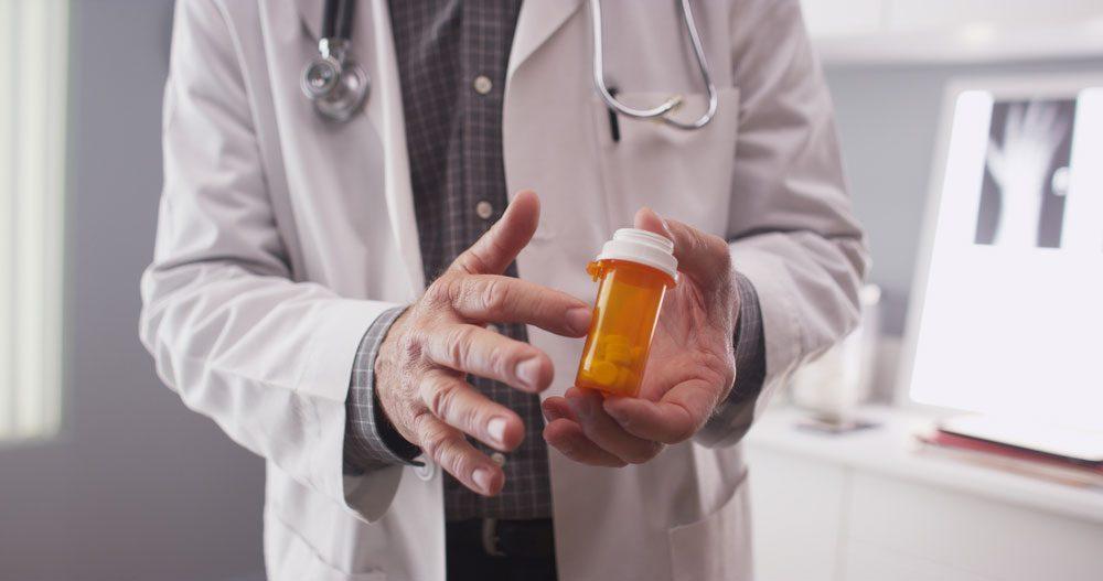 doctor with prescription