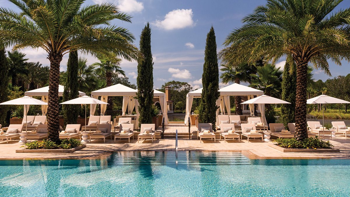 pool view of the Four Seasons Orlando hotel