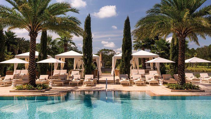 pool view of the Four Seasons Orlando hotel