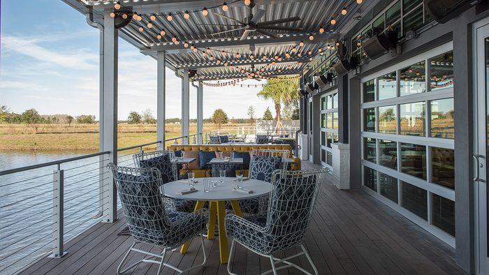 dockside view of Canvas Restaurant in Orlando
