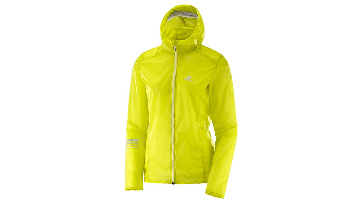 lemon yellow running jacket