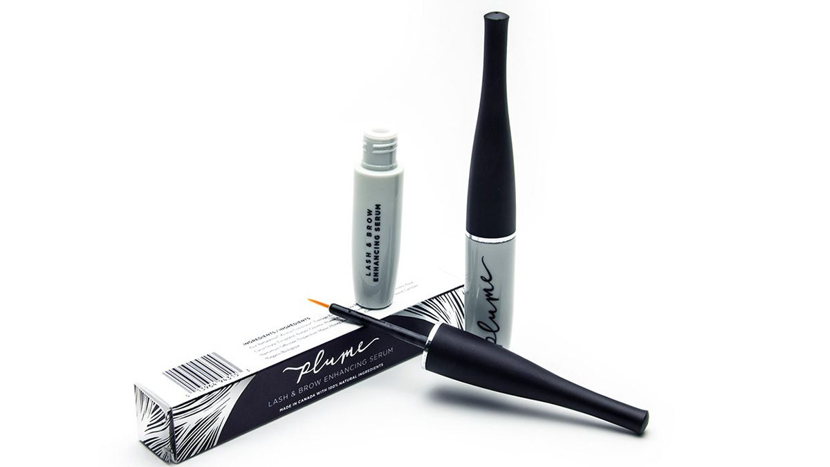 an opened bottle of eye lash serum