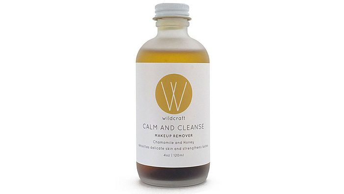 a clear jar of makeup remover