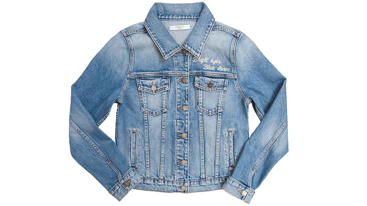Embroidery fashion jean jacket