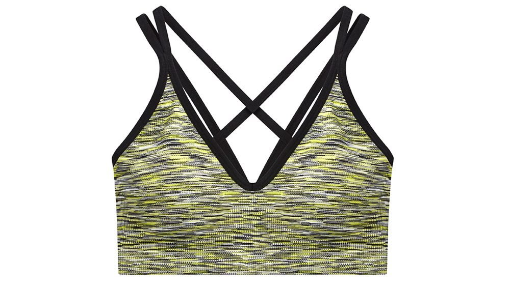 fashionable hiking sports bra