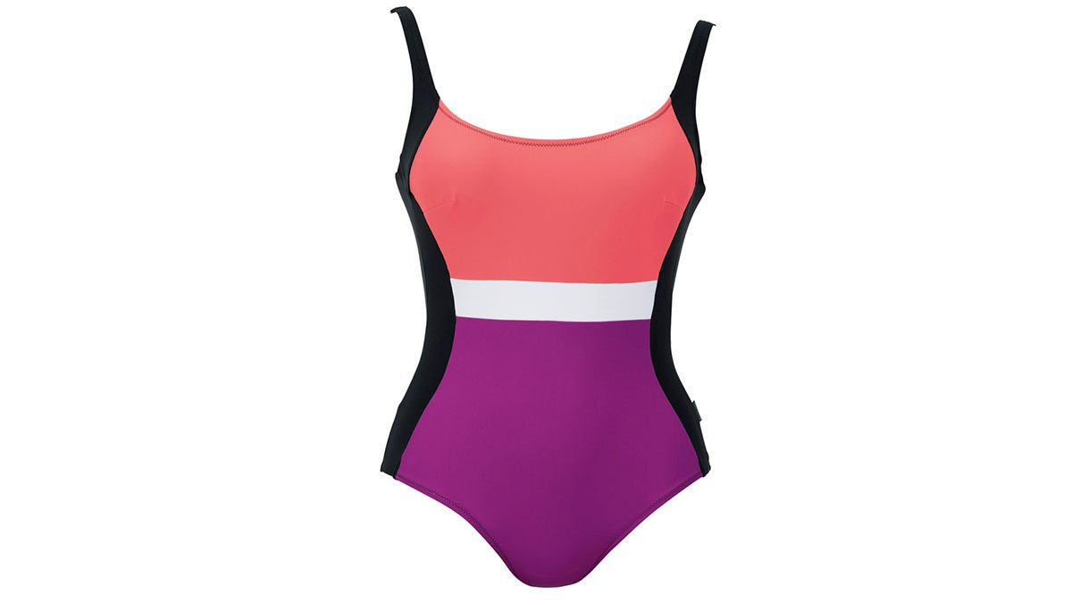 paneled one-piece swimsuit