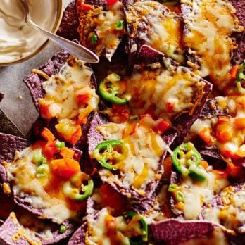 Loaded Lactose-Free Nachos