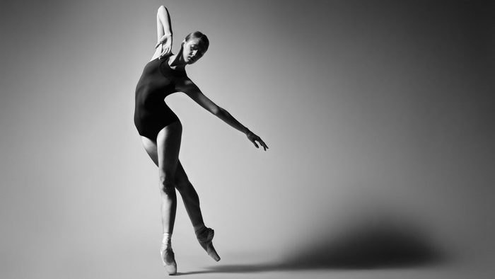 Ballerina dancing
