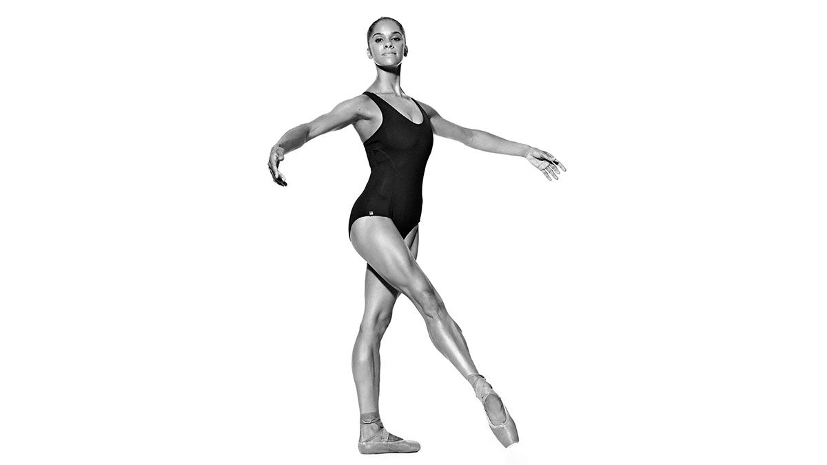 Misty Copeland demonstrates tendu