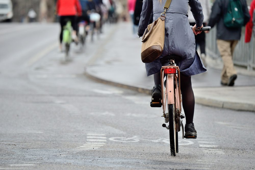 woman biking to work_Easy Eco-Habits