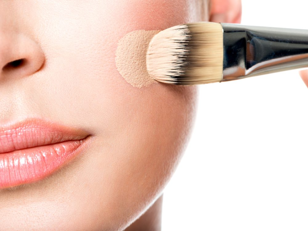 Wearing the wrong colour foundation is a makeup mistake that can age your face