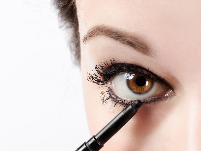Lining the bottom of your eyes a makeup mistake that can age your face