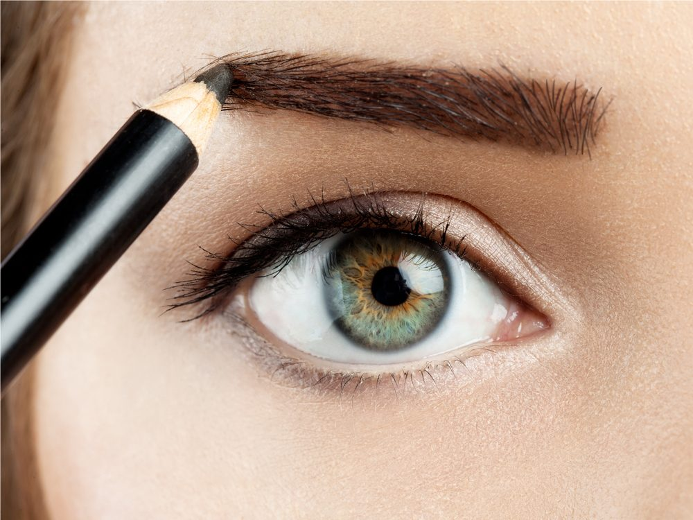 Filling in your eyebrows is a simple makeup tip to make your eyes pop