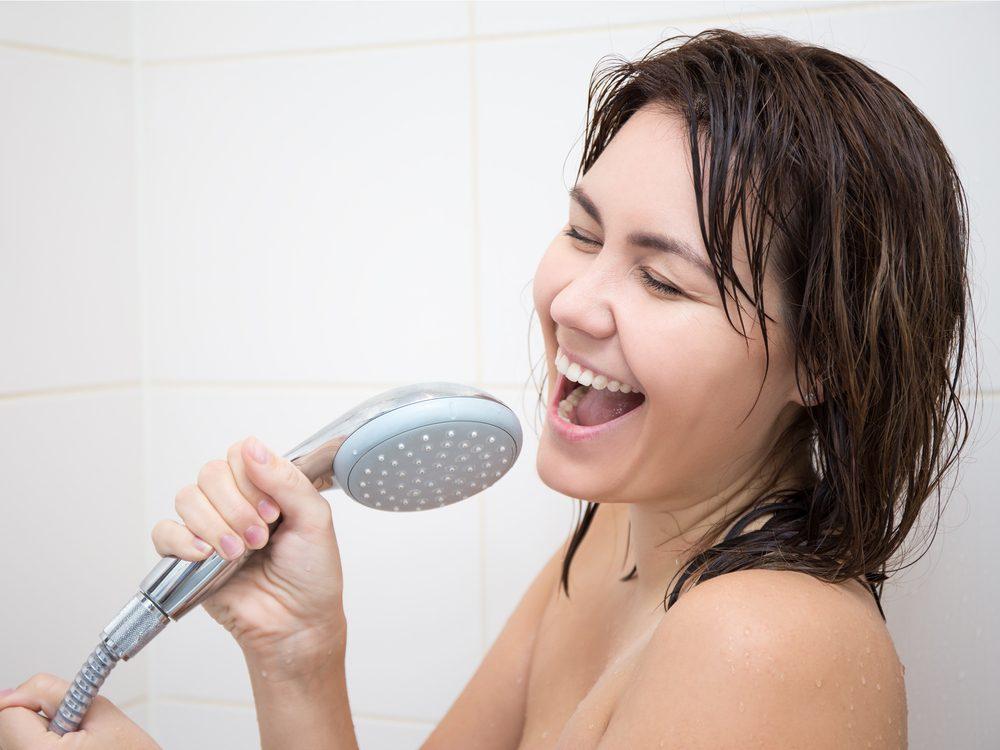 Showering gets rid of good bacteria