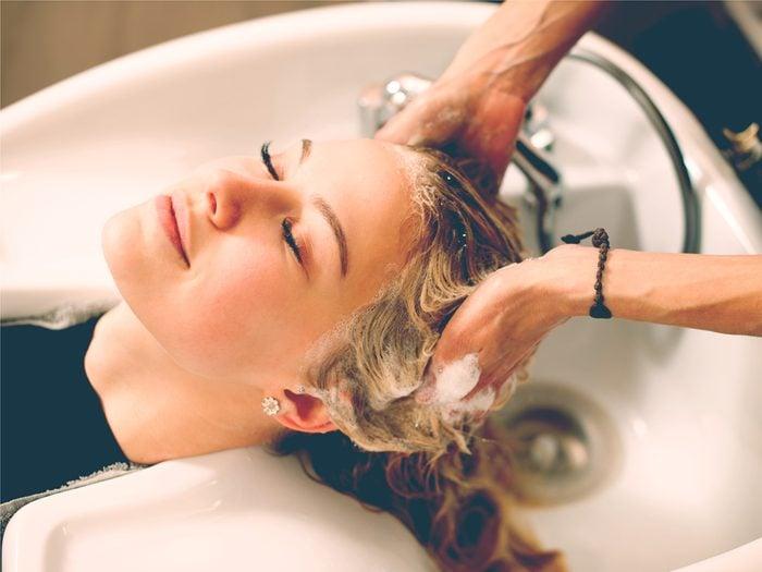 We shampoo your hair