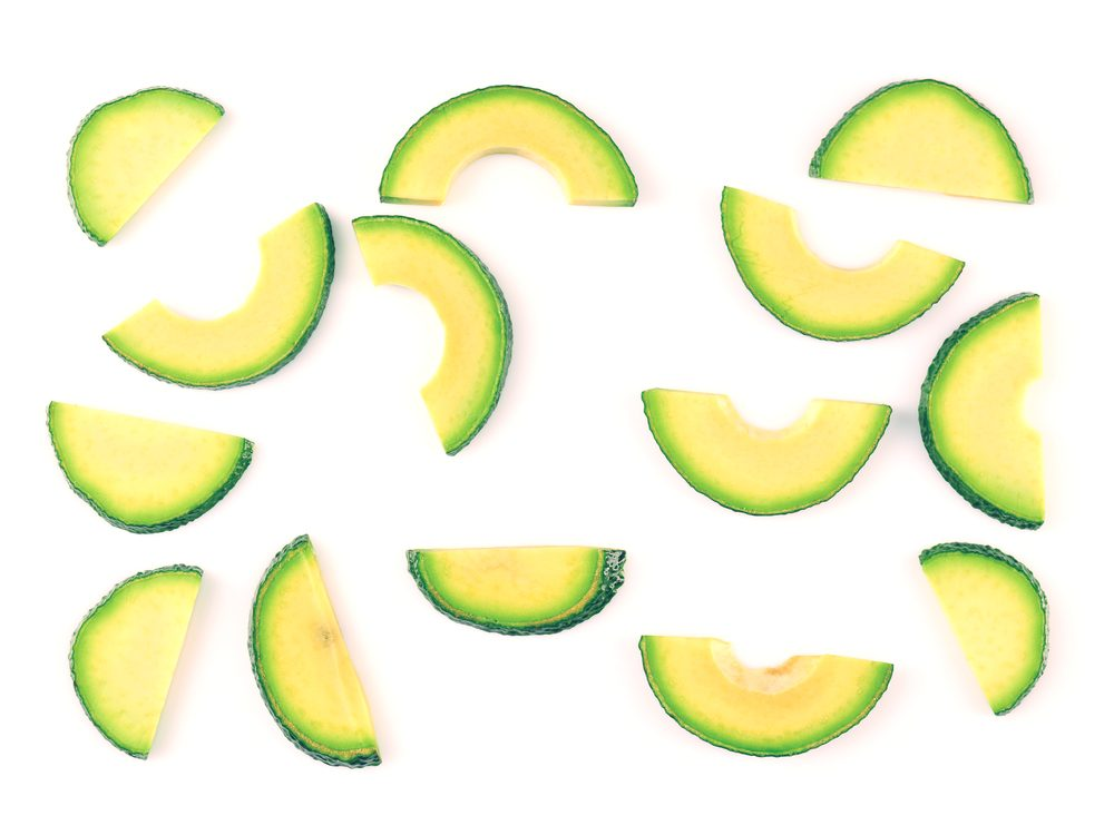 Reduce puffy eyes and dark circles with avocado slices