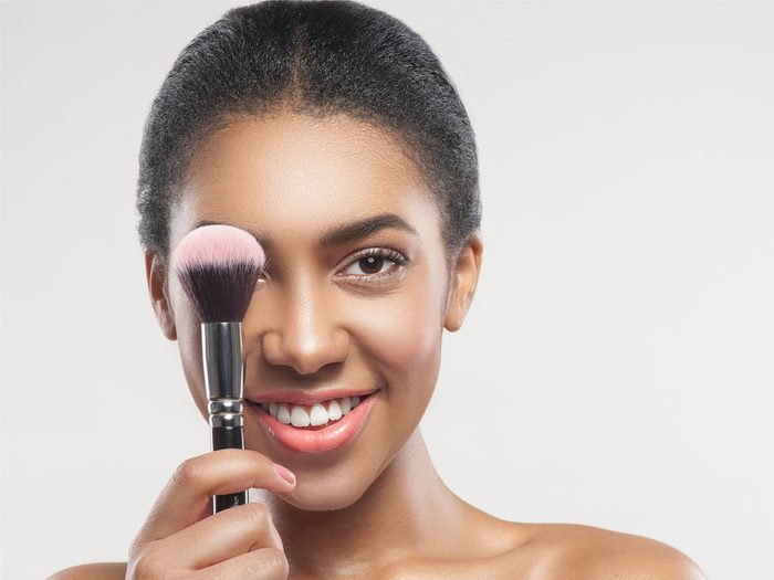 Applying your blush to the wrong spot is a makeup mistake that can age your face