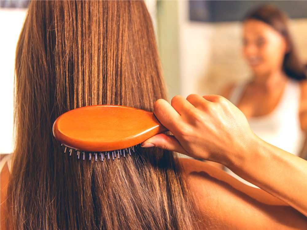 You may be breaking out with acne because of greasy products in your hair