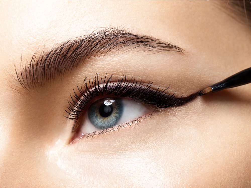Not skipping the eyeliner is a simple makeup tip that will make your eyes pop