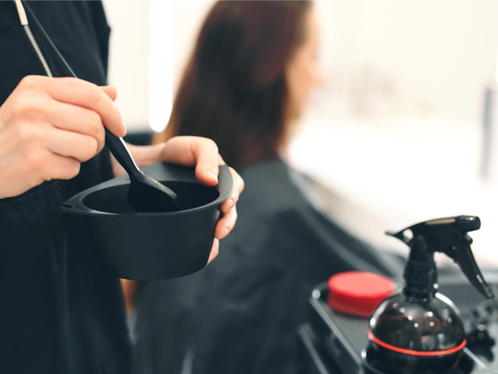 Hair stylist secret: standing all day and using scissors and a blow-dryer takes its toll