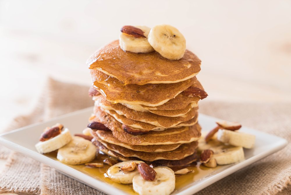 almond facts_ almonds on pancakes