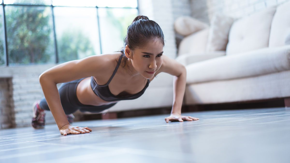 Arm Exercises, push ups
