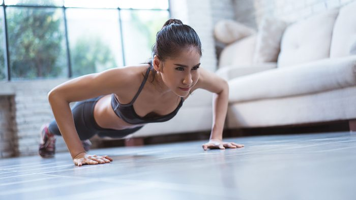 Arms Exercises, push ups