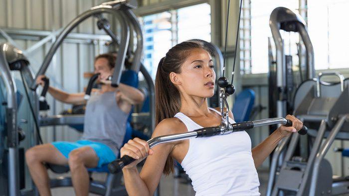 exercise prescription for diabetes: woman doing strength training