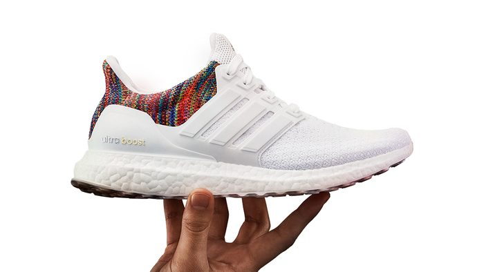 Fit Gift Customized Adidas shoes, shown in white