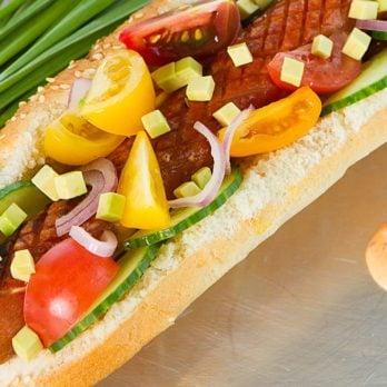 Garden Veggie Hot Dog
