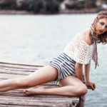Quick Fix for Spider Veins, a woman in shorts on the dock