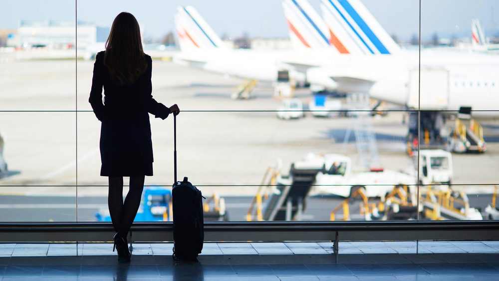 Ruining hearing, woman about to go on a trip, but she has a cold