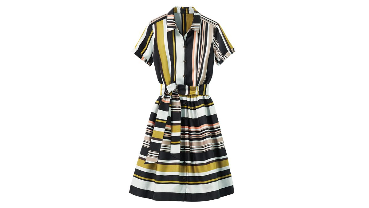 Striped dress for rectangle body shape