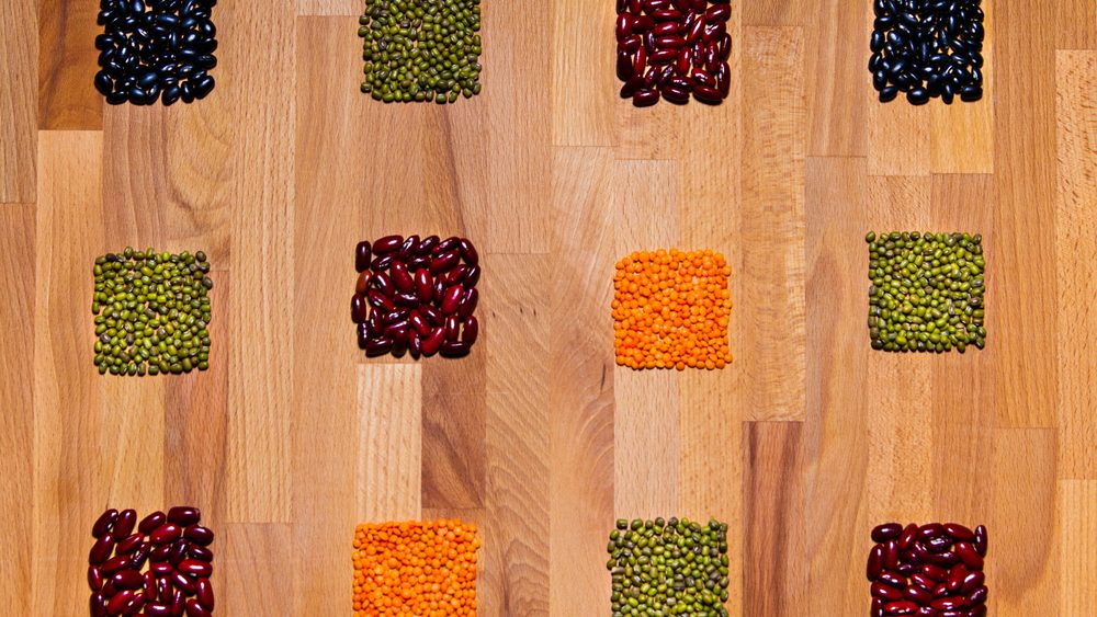 Izzy's eating plan, a board with high fibre foods such as beans