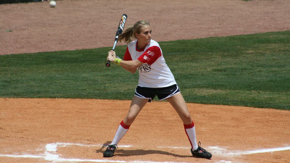 woman at risk for injuries, baseball