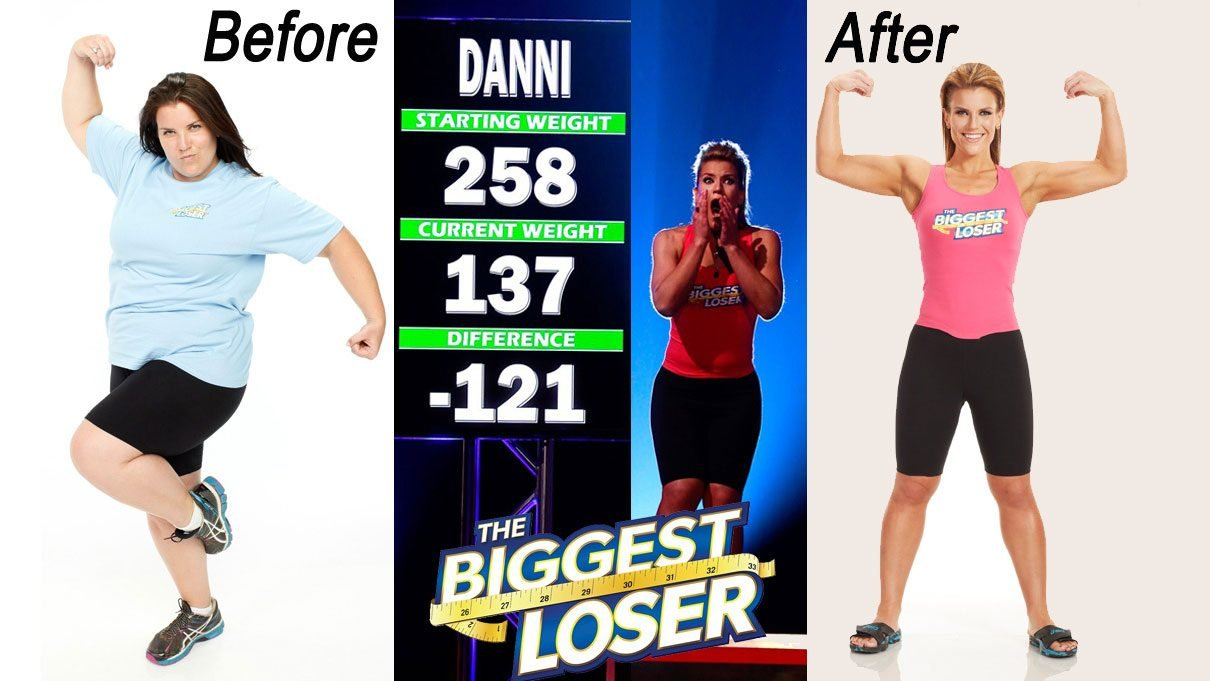 Life After The Biggest Loser, Danni Allen's before and after photos