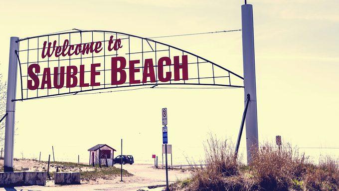 Memories of Canada, Beth Thompson, vintage photo of Sauble Beach