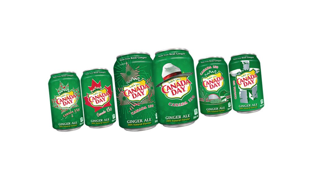 Canadiana Canada Dry cans