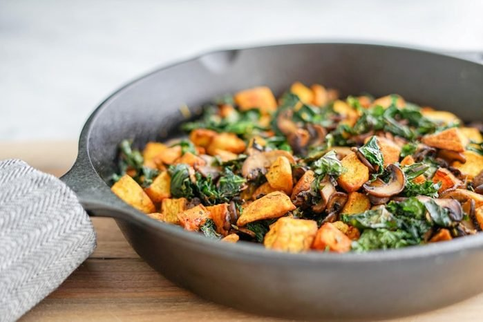 quick and easy breakfast ideas | healthy breakfast | veggie skillet with kale