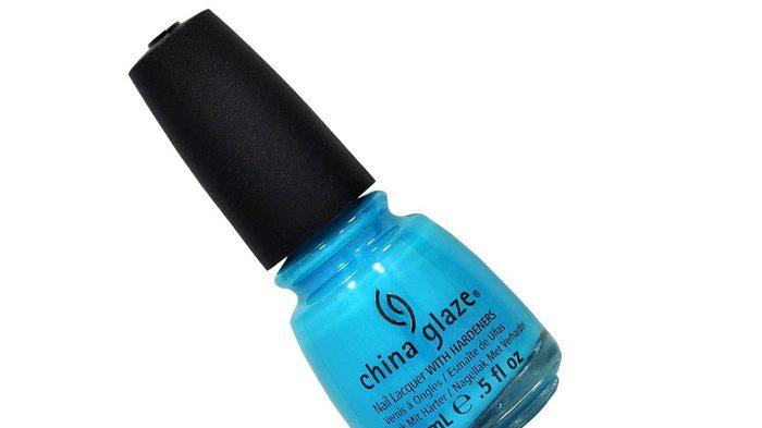 summer pedi colour, an azure blue polish